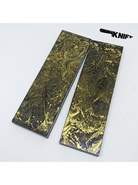 Накладки акрил золото (130х40х8 мм)