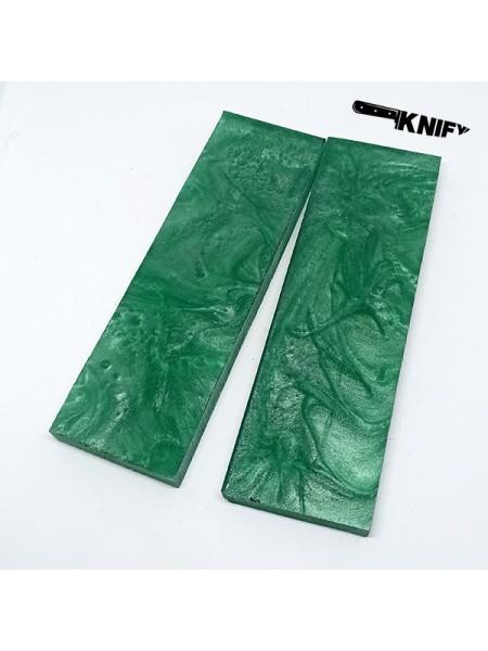 Накладки акрил зеленые (130х40х8 мм)