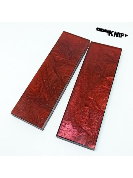 Накладки акрил красные (130х40х8 мм)