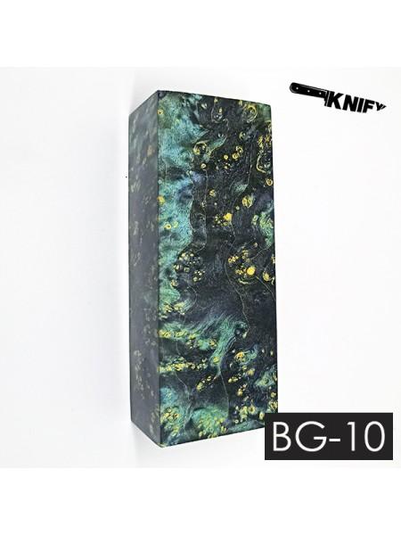 Кап клена стаб. черный с зеленым (BG-10)