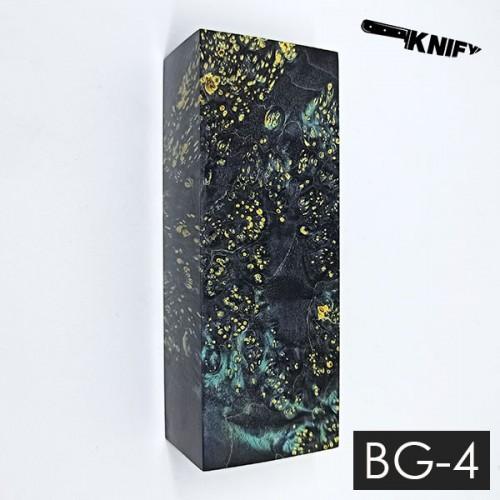 Кап клена стаб. черный с зеленым (BG-4)