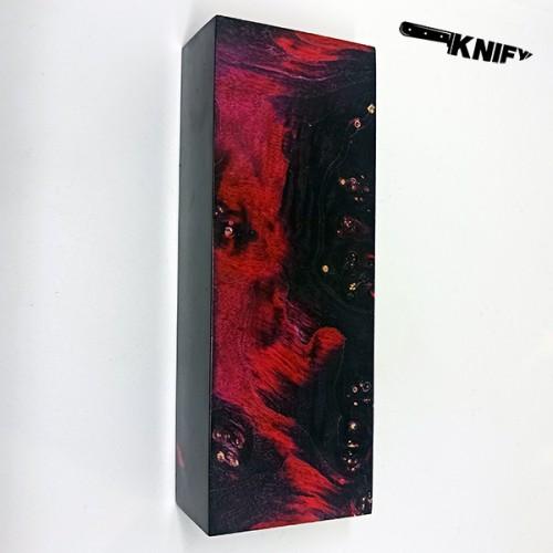 Кап клена стаб. красный с черным 30х47х130 мм (Z-342)