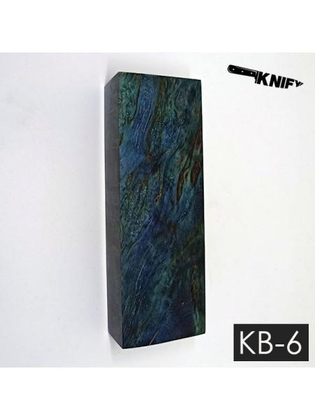 Карельская береза стаб. 26х42х125 мм (KB-6)