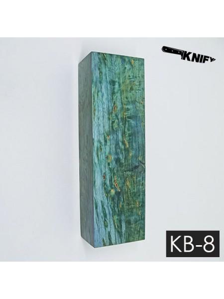 Карельская береза стаб. 31х41х125 мм (KB-8)