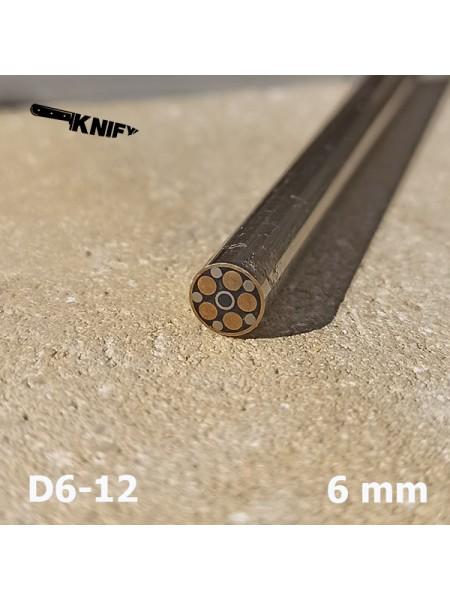 Пин 6 мм декор (мод. D6-12)