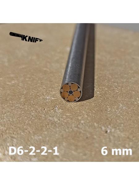 Пин 6 мм декор (мод. D6-2 2 1)