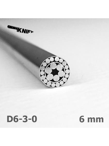 Пин 6 мм декор (мод. D6-3-0)