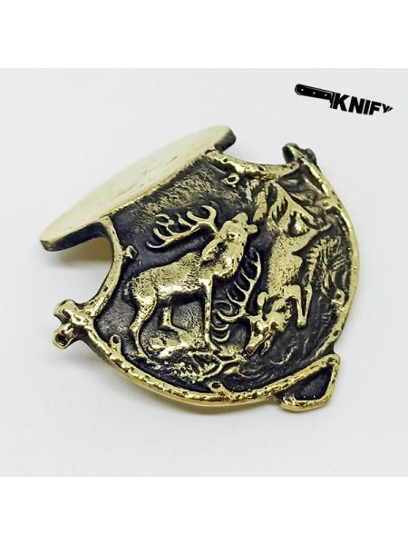 Накладка хиршфангера №1, бронза
