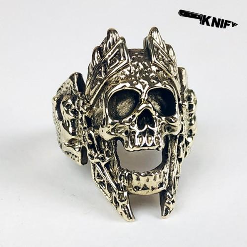 """Перстень """"Череп"""", бронза"""